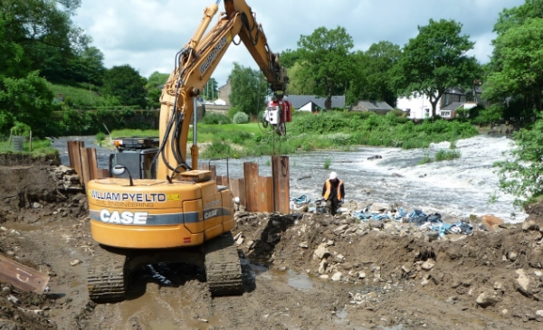 week 4 - pile driving at outfall